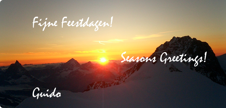 Fijne Feestdagen! Seasons Greetings!
