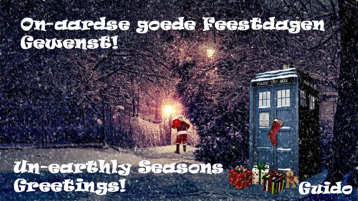 Fijne feestdagen gewenst! Seasons Greetings Everybody!